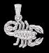 Anhänger Sternzeichen Skorpion aus 925er Sterling Silber
