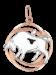 Anhänger Sternzeichen Stier aus Rot/ Weißgold 585°
