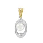 Pendants in White/ Yellow Gold 585 - Pearl and Diamond