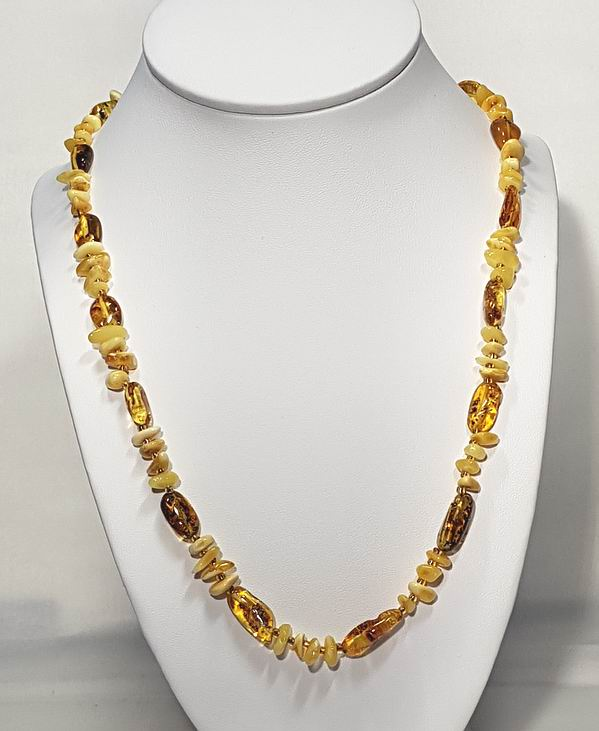 Necklace made of genuine not slept Amber