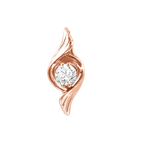 Pendant in rose gold 585 with Swarovski zirconia
